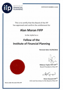 Alan Moran FIFP Fellow of the Institute of Financial Planning