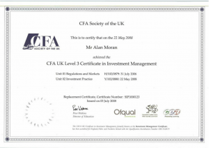 CFA society of the UK Level 3 Certificate in Investment Management