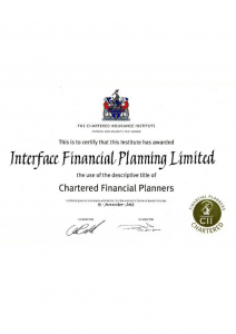 Chartered Financial Planners certificate