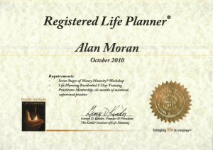 Registered Life Planner credential