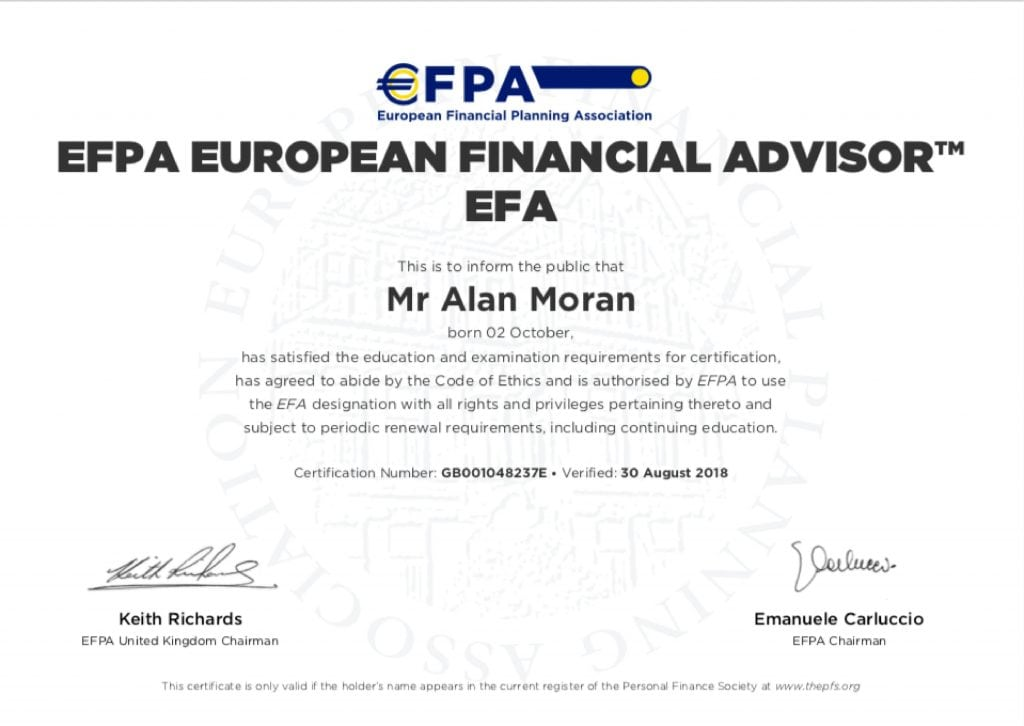 Professional Certificates Interface Financial Planning