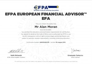 EFPA European Financial Advisor certificate