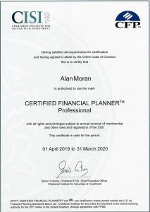 Certified Financial Planner certificate