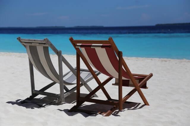 beach chairs on a beautiful beach