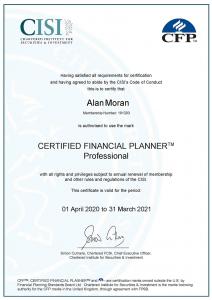 Certified Financial Planner certificate