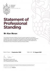 Statement of Professional Standing September
