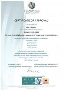 Personal Financial Planning Certificate BS ISO 22222